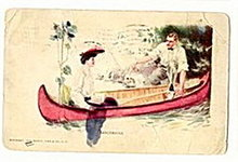 'Canoemates' Glamour/Lady 1908 Moffat, Co Postcard