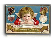 H P Saunderson Child Thanksgiving 1907 Postcard