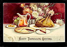 Ellen Clapsaddle Thanksgiving w Turkey 1908 Postcard