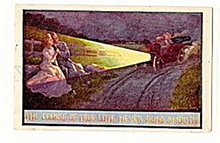 'The Course True Love Never Runs Smooth' 1911 Postcard