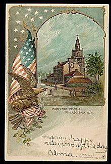 1906 Independence Hall Patriotic Postcard