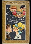 Tucks 'School Days' Children Dwig 1911 Postcard