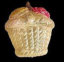Early 1900s Blown Glass Fruit Basket Christmas Ornament
