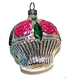 Early 1900s Flower Basket Mercury Glass Ornament