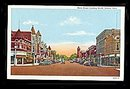 1930s Celina, OH, Main Street Looking North Postcard