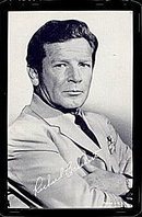 1960s Richard Basehart Actor Arcade Card
