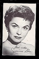 1960s Joanne Dru Actress Arcade Card