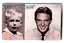 1960s Robert Stack Then and Now Actor Arcade Card