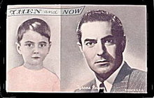 1960s Tyrone Power Then and Now Actor Arcade Card