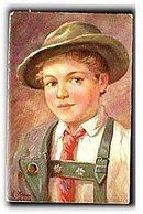L Kraus Artist German Child 1908 Postcard
