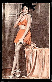 Lovely Risque 1940s Woman in Slip/Bra Postcard