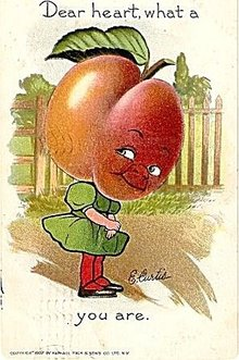 1908 Tucks 'What a Peach You Are..' Postcard