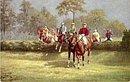 Gorgeous Tucks 'Steeple Chase'  w Horses 1906 Postcard