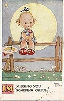 Mabel Lucie Attwell 'Missing You Orful!' Postcard