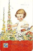Mabel Lucie Attwell 'God Send You Happy...' Postcard