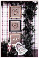 'Merry Hearts I' Christmas Hearts Cross Stitch Chart