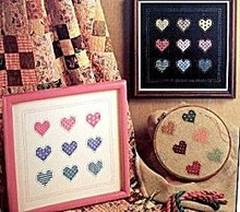 Home Spun 'Charmed Hearts' Cross Stitch Patterns