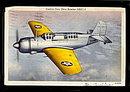 1942 Curtiss New Dive Bomber SB2C-1 Postcard
