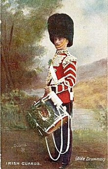 Tucks 1908 Irish Guards - Side Drummer Postcard