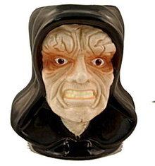 1996 Applause Star Wars 'Emperor Palpatine' Figural Mug