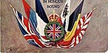 Tucks 'In Honour Bound' British, etc Flags Postcard