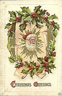 1912 Santa Claus, Christmas Greetings Postcard