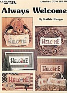 Leisure Arts 'Always Welcome' Cross Stitch Leaflet