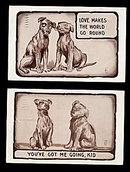 2 H.I.R. Signed Dog Comic 1910 Postcards