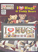'I Love Hugs' Cross Stitch Patterns - Teddy Bears