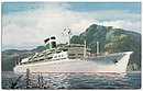 New Santa Paula Cruise Ship 1959 Postcard