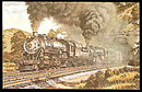 1973 Baltimore & Ohio 4633 Locomotive Postcard