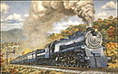1973 Baltimore & Ohio 5600 Locomotive Postcard