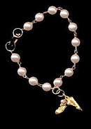 Lovely Faux Pearl with Ballerina Shoes Bracelet