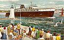 C & O Chessie Passenger Ferry MI & WI 1950s Postcard