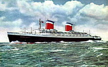 S.S. United States Steamer Ship 1950s Postcard