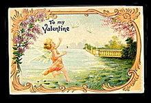 Lovely ASB 'To My Valentine's Day Cherub Postcard