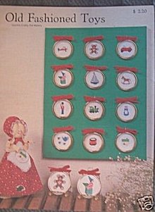 Old Fashioned Toys Counted Cross Stitch Patterns