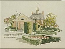 'Governor's Palace' Colonial Gardens Cross Stitch