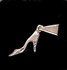 Vintage High Heeled Slipper Sterling Silver Charm