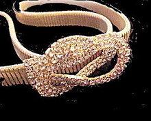 Vintage Goldtone with Rhinestones Front Belt