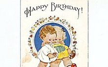 Mabel Lucie Attwell 'Happy Birthday' Children Postcard