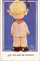 Mabel Lucie Attwell Child's Behind 1930 Postcard
