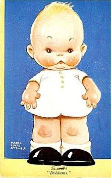Mabel Lucie Attwell Boy 'Diddums' 1934 Postcard
