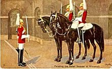 Tucks Parading Relief Sentries Military 1907 Postcard