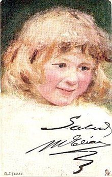 Tucks 'Studies of Childhood' Girl Elsley Postcard