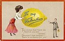 Tucks Lemon 'To My Valentine' 1908 Postcard