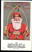 The Great Wizard Santa Claus 1908 Postcard