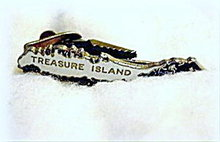 Enameled Treasure Island FL Men's Tie Clasp