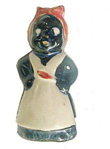 "4"" 1950s Black Americana Salt Shaker"