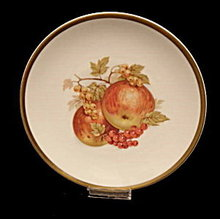 "Bavaria 7"" Germany Golden Crown Plate w Apples"